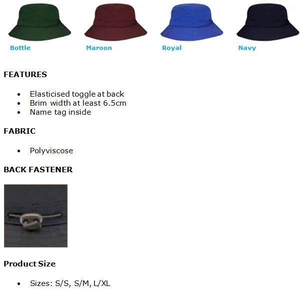 Polycotton School Bucket Hat. Contact us for more information 3626a3462123
